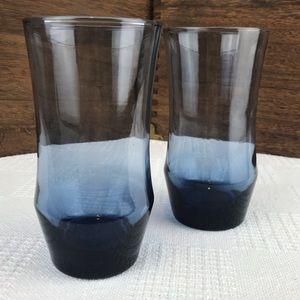 Dusky Blue Apollo Shape Libbey Drinking Glasses